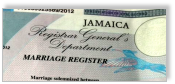 Jamaican Marriage Certificate