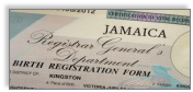 Jamaican Birth Certificate